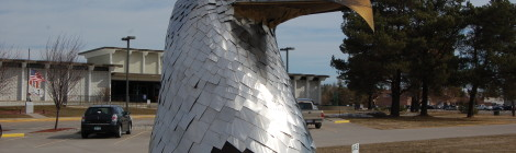 Michigan Roadside Attractions: Stainless Steel Eagle by Tom Moran - Alpena