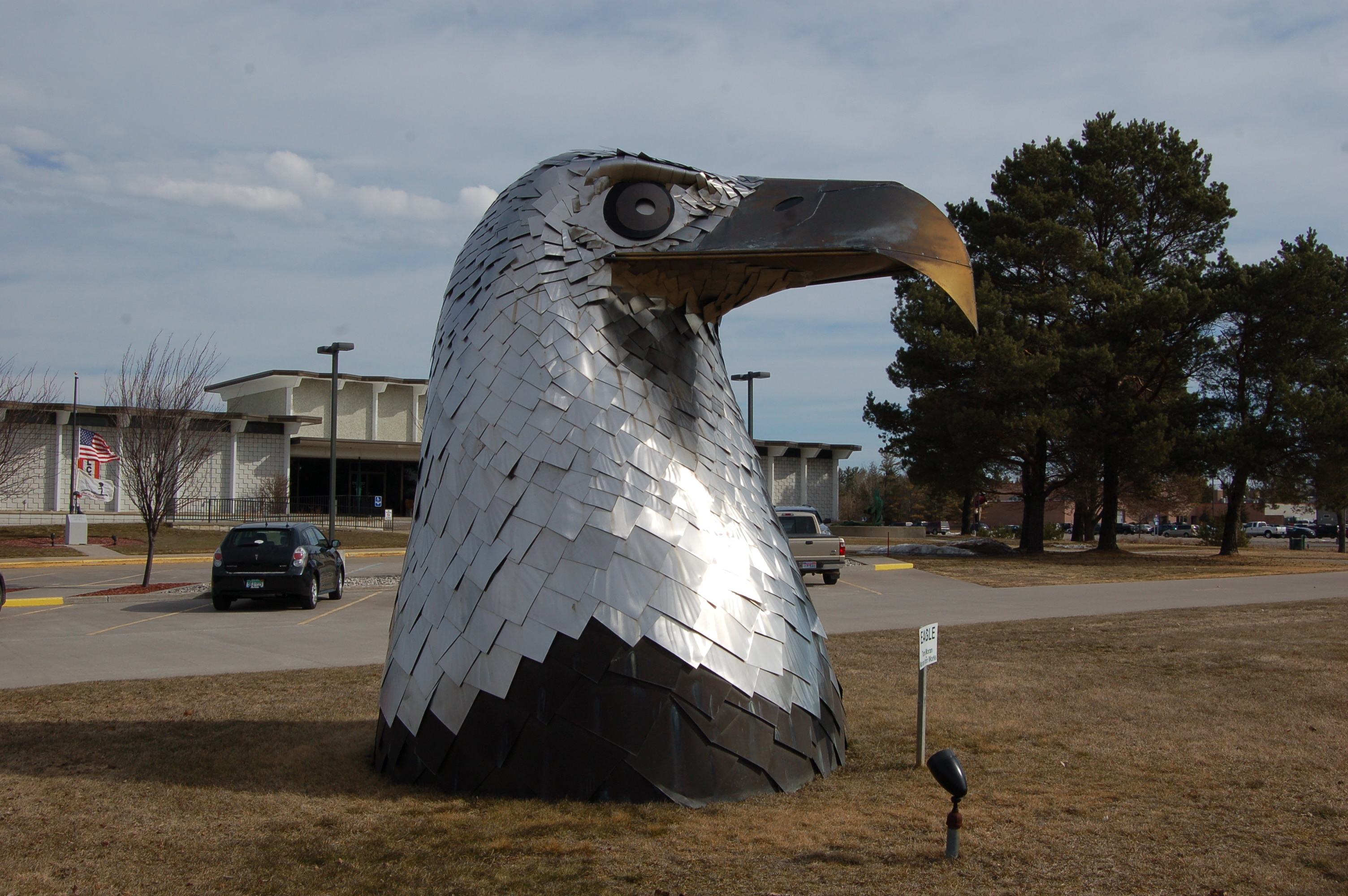 Michigan Roadside Attractions Stainless Steel Eagle By