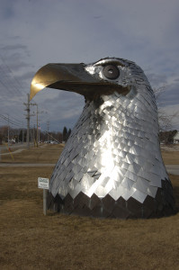 Vertical Stainless Steel Eagle Alpena