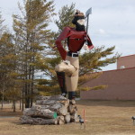 Michigan Roadside Attractions: Paul Bunyan Made From Car Parts – Alpena