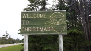 Christmas Michigan Welcome Sign