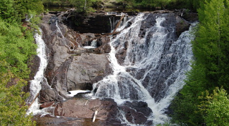 Eagle River Falls - A Roadside Waterfall and Two Historic Bridges in Michigan's Keweenaw County