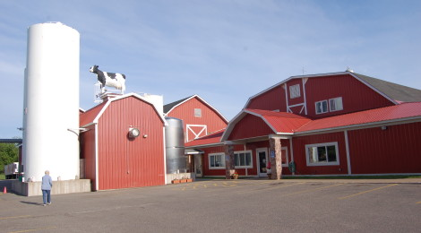 Michigan Roadside Attractions: See The Cow Statues at Jilbert Dairy in Marquette