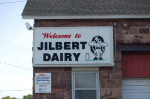 Jilbert Dairy Sign Marquette Michigan