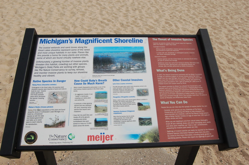 Meijer Sign Petoskey State Park