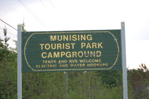 Munising Tourist Park Campground Sign