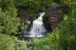 Palmer MI roadside waterfall Warner Falls