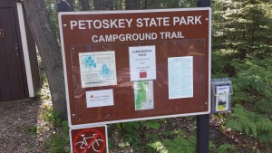 Petoskey State Park Campground Trail