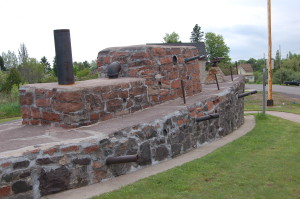 Roadside Stone Ship Michigan Keweenaw