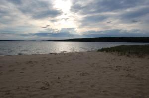 Sand Point Beach Munising Pictured Rocks