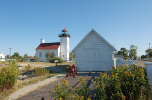 Sand Point Lighthouse and Marker