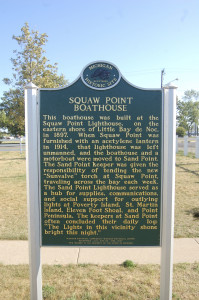 Squaw Point Boathouse Michigan Historic Marker