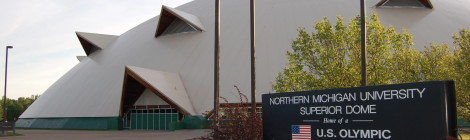 Michigan Roadside Attractions: Superior Dome at Northern Michigan University in Marquette