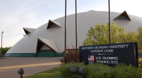 Michigan Roadside Attractions: Superior Dome at Northern Michigan University in Marquette