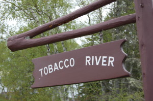 Tobacco Falls Sign Michigan Lake Superior