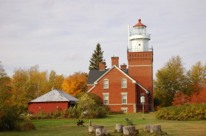 Big Bay Point Lighthouse Michigan Lake Superior