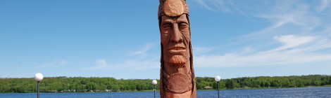 "Michigan Roadside Attractions: Peter Wolf Toth's Wood Carving Indian ""Nee-Gaw-Nee-Gaw-Bow"" in Wakefield"