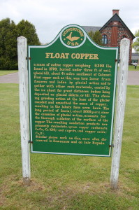 Float Copper Sign Calumet Michigan