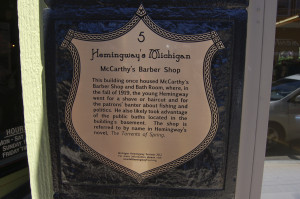 Hemingway Marker McCarthys Barber Shop Petoskey Michigan