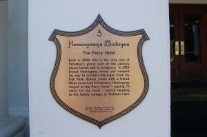 Hemingway Marker Perry Hotel Petoskey