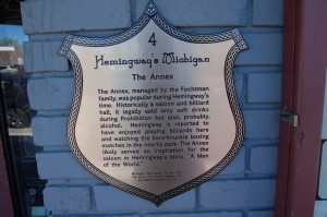 Hemingway Marker Petoskey The Annex