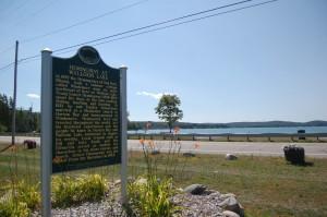 Hemingway at Walloon Lake Marker Michigan