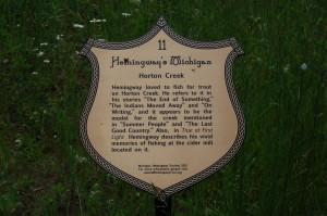 Hemingway marker michigan horton creek