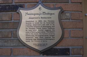 Jesperson's Restaurant Hemingway Marker Petoskey