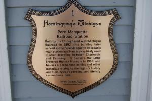 Pere Marquette Railroad Hemingway Marker