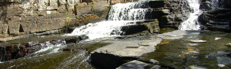 Black Slate Falls and Quartzite Falls - A Baraga County Waterfall Adventure