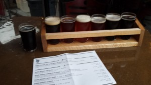 Beards Brewery Beer Flight