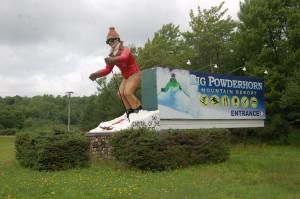 Big Powderhorn Mountain Ski Resort Statue Bessemer