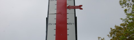 Michigan Roadside Attractions: Keweenaw Snow Gauge in Mohawk, MI