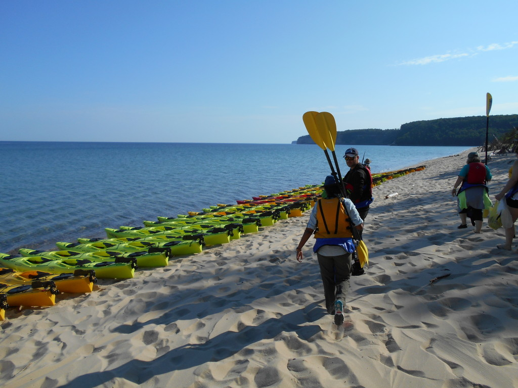 Kayaking Pictured Rocks Miners Beach