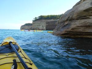 Kayaking Pictured Rocks Michigan