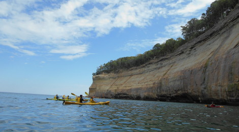 Kayaking Pictured Rocks National Lakeshore With Uncle Ducky Outdoors