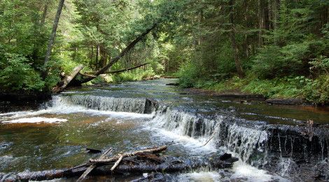 Haymeadow Falls and Campground - A Serene Waterfall in the Hiawatha National Forest
