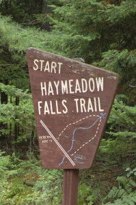 Haymeadow Falls Sign Michigan