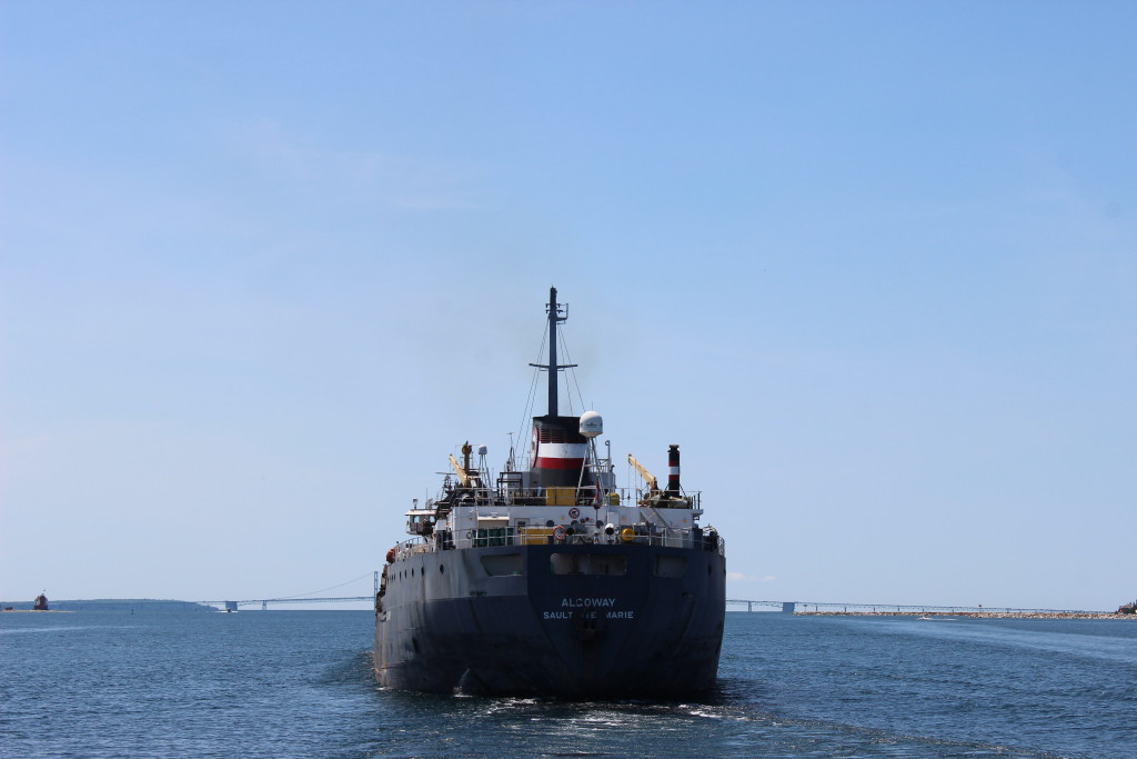 Freighter Algoway passing by