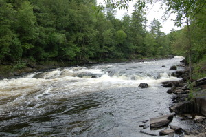 Piers Gorge Second Pier Waterfall Rapids Menominee River
