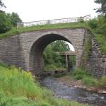 Michigan Roadside Attractions: Historic Ramsay Keystone Bridge in Gogebic County