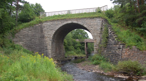 Michigan Roadside Attractions: Historic Ramsay Keystone Bridge in Gogebic County