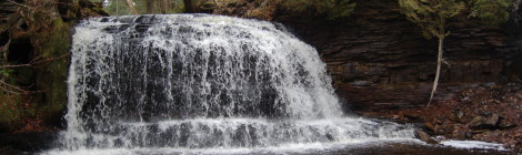 Rock River Falls - A Wilderness Waterfall in Alger County