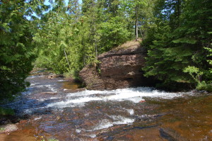 Silver River Falls Downstream Keweenaw