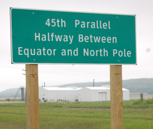 45th Parallel Marker US-131 Michigan