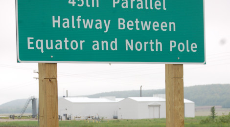 Michigan Roadside Attractions: 45th Parallel Markers