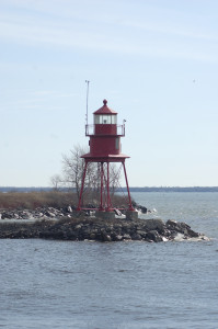 Alpena Lighthouse Vetical Lake Huron