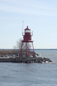 Alpena Lighthouse Vetical Lake Huron