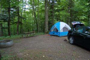 Bewabic State Park Campsite