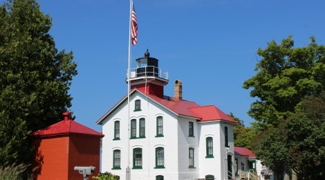 Grand Traverse Lighthouse on Lake Michigan - Leelanau State Park